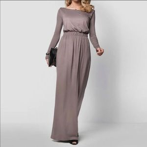 🔻*LAST ONE* Taupe Long-Sleeved Maxi Dress